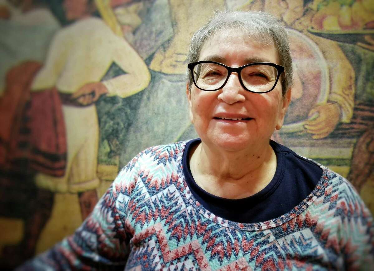 Maria Jimenez, a longtime civil rights activist in Houston, died December 1, 2020, after a long battle against cancer. Archive photo fromFebruary 2019 taken at a restaurant in Houston, Texas.