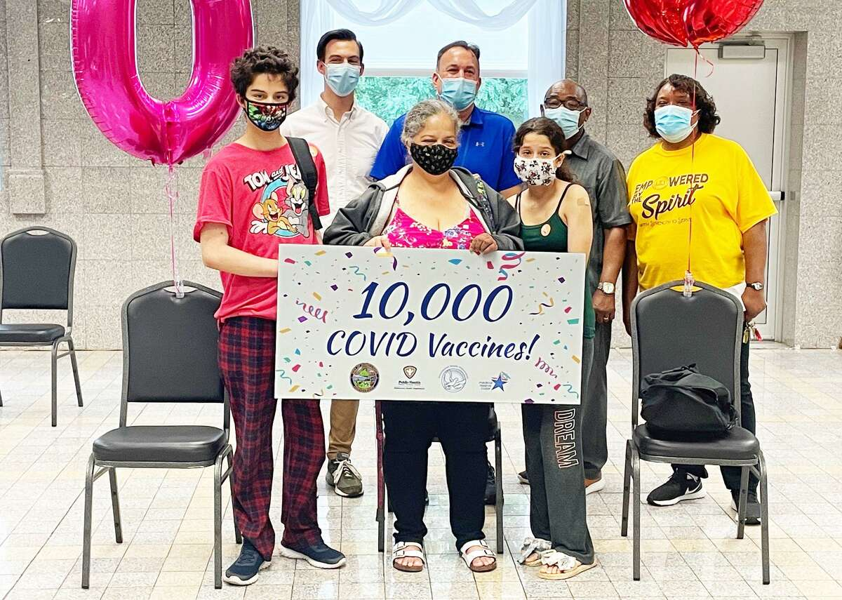 The Middletown Health Department recorded a milestone Aug. 28 during the Cross Street AME Zion Church backpack giveaway. Volunteers and staff celebrated 10,000 vaccines administered since December 2020.