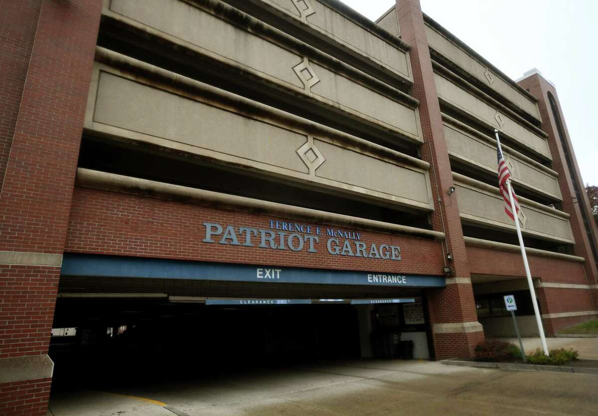 The Terence McNally Patriot Garage on Delay Street in Danbury, Conn. on Tuesday, October 13, 2020. New technology will be installed at the Patriot and Bardo garages.