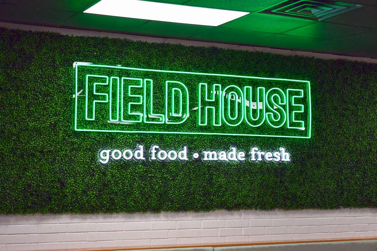 The neon sign inside the new Field House location next to Leal's on Olton Rd.