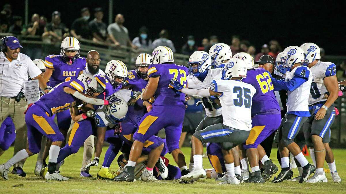 Tempers were escalated as both teams began a ruckus in the fourth quarter.