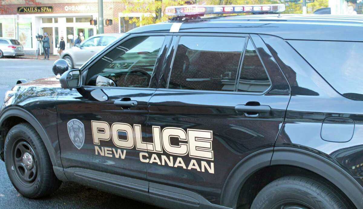 Police said the two separate crashes were reported to police within minutes of each other on Old Stamford Road in New Canaan, Conn., on Sept. 5, 2021.