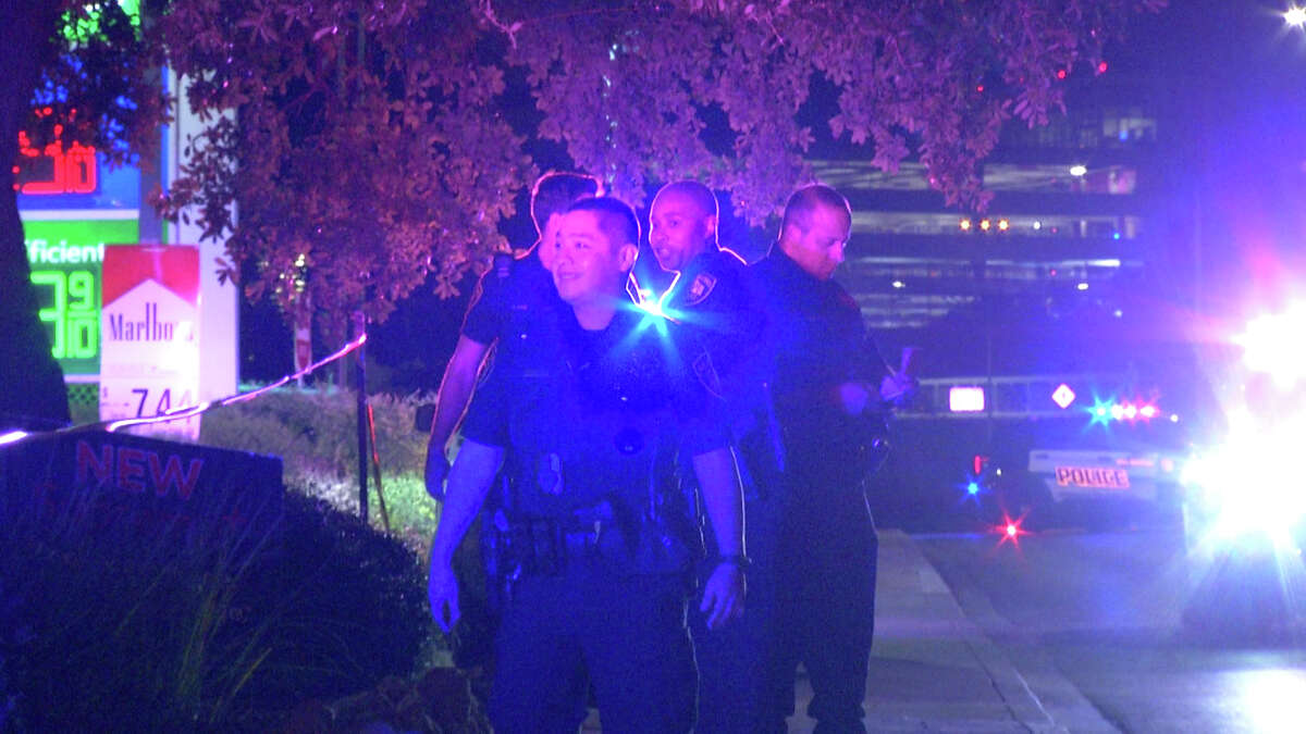 A man allegedly pointed a gun at San Antonio police, prompting the officers to fire at the man, officials said.