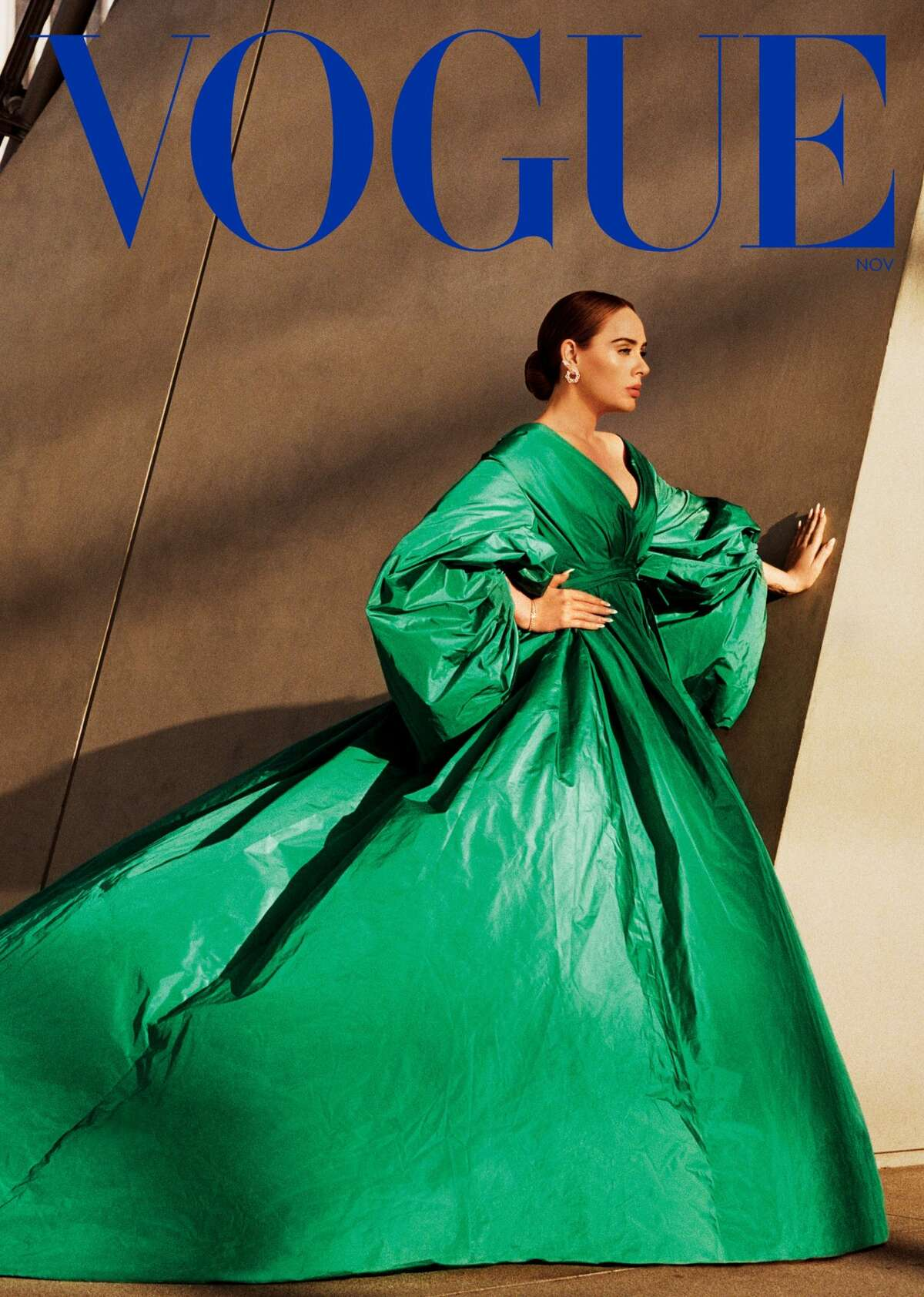 Adele appears on the cover of American Vogue's November 2021 issue.