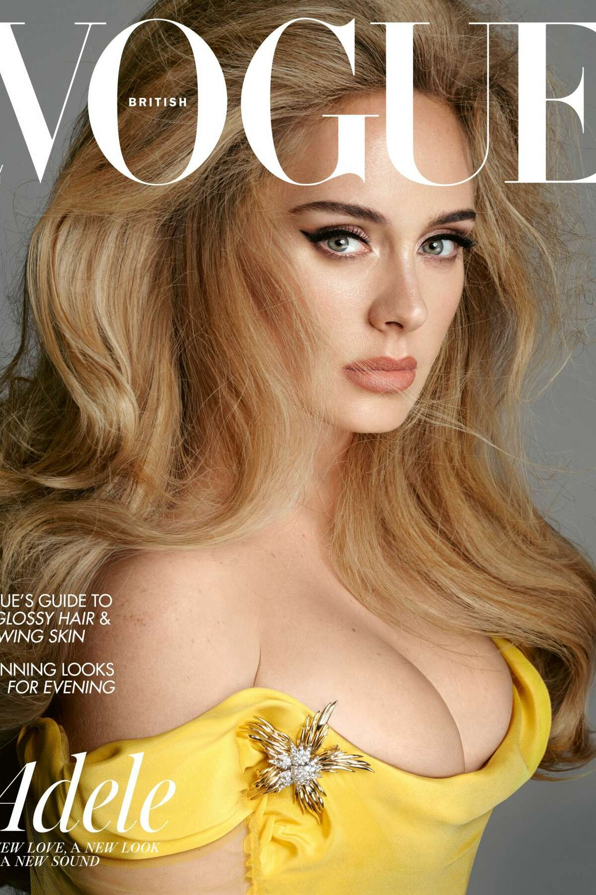 Adele appears on the cover of British Vogue's November 2021 issue.