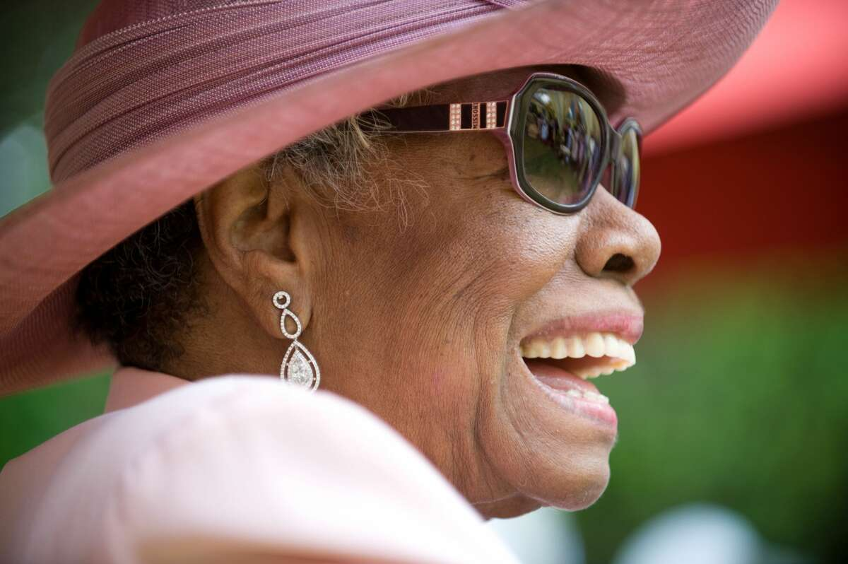 Dr. Maya Angelou attends her 82nd birthday at a party with friends and family at her home on May 20, 2010 in Winston-Salem, North Carolina. (Photo by Steve Exum/Getty Images)