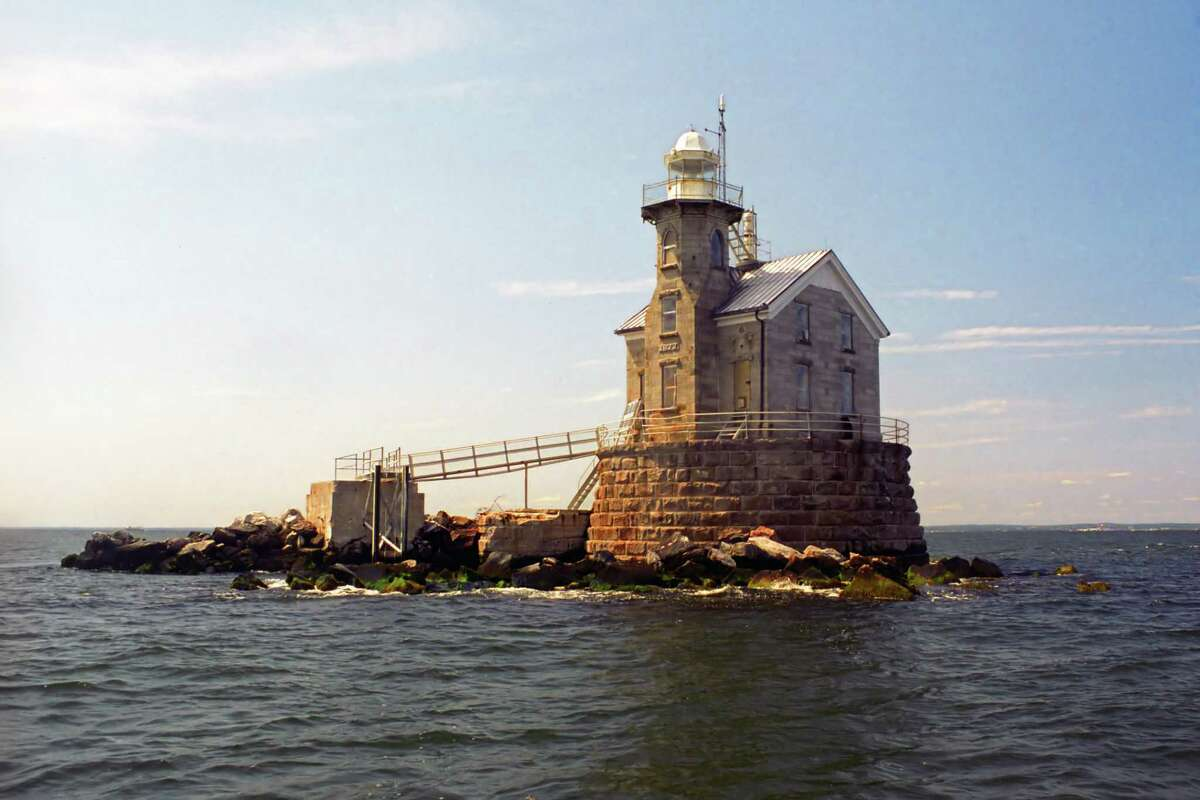Stratford Shoal Lighthouse, also known as Middleground Lighthouse, Connecticut.