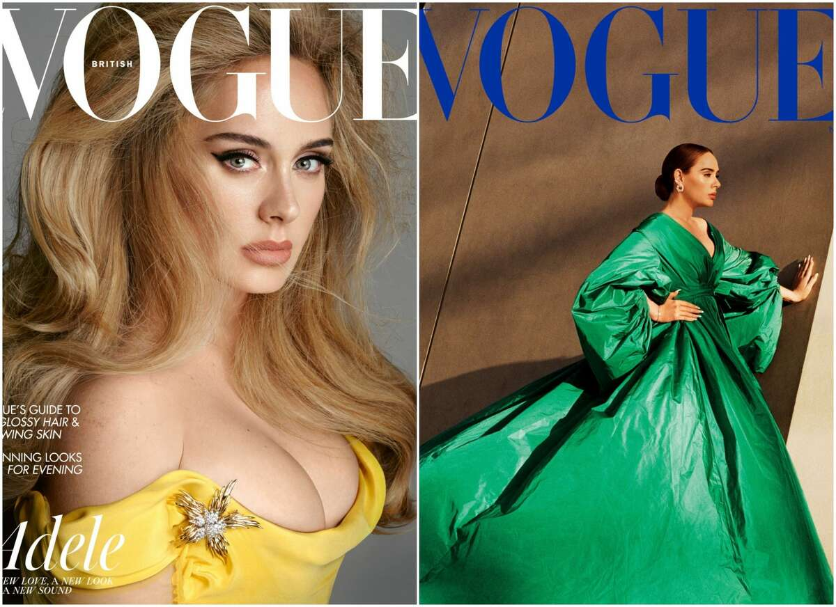 Adele graces covers of both American and British Vogue for November.