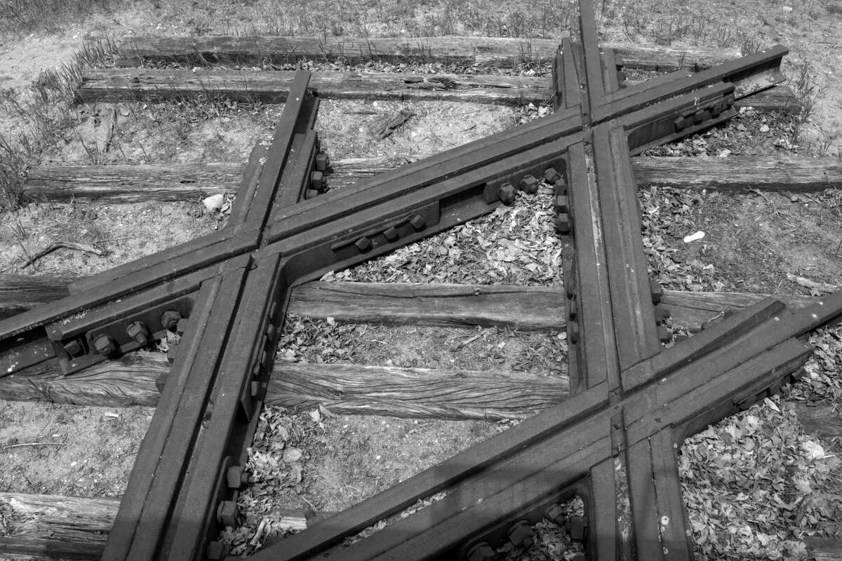 What remains of the Diamond Crossing in Thompsonville, a rail hub that made the village of great importance to Benzie County and Northern Michigan's history during the days of logging and railways. (Courtesy Photo)