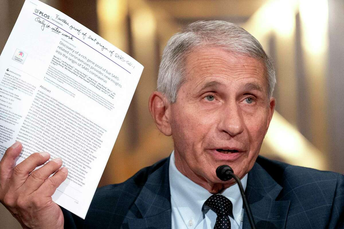 """Dr. Anthony Fauci, director of the National Institute of Allergy and Infectious Diseases, speaks during a hearing before the Senate Health, Education, Labor, and Pensions Committee in Washington, July 20, 2021. If funded, a government program costing several billion dollars could develop ?'prototype?"""" vaccines to protect against 20 families of viruses. (Stefani Reynolds/The New York Times)"""