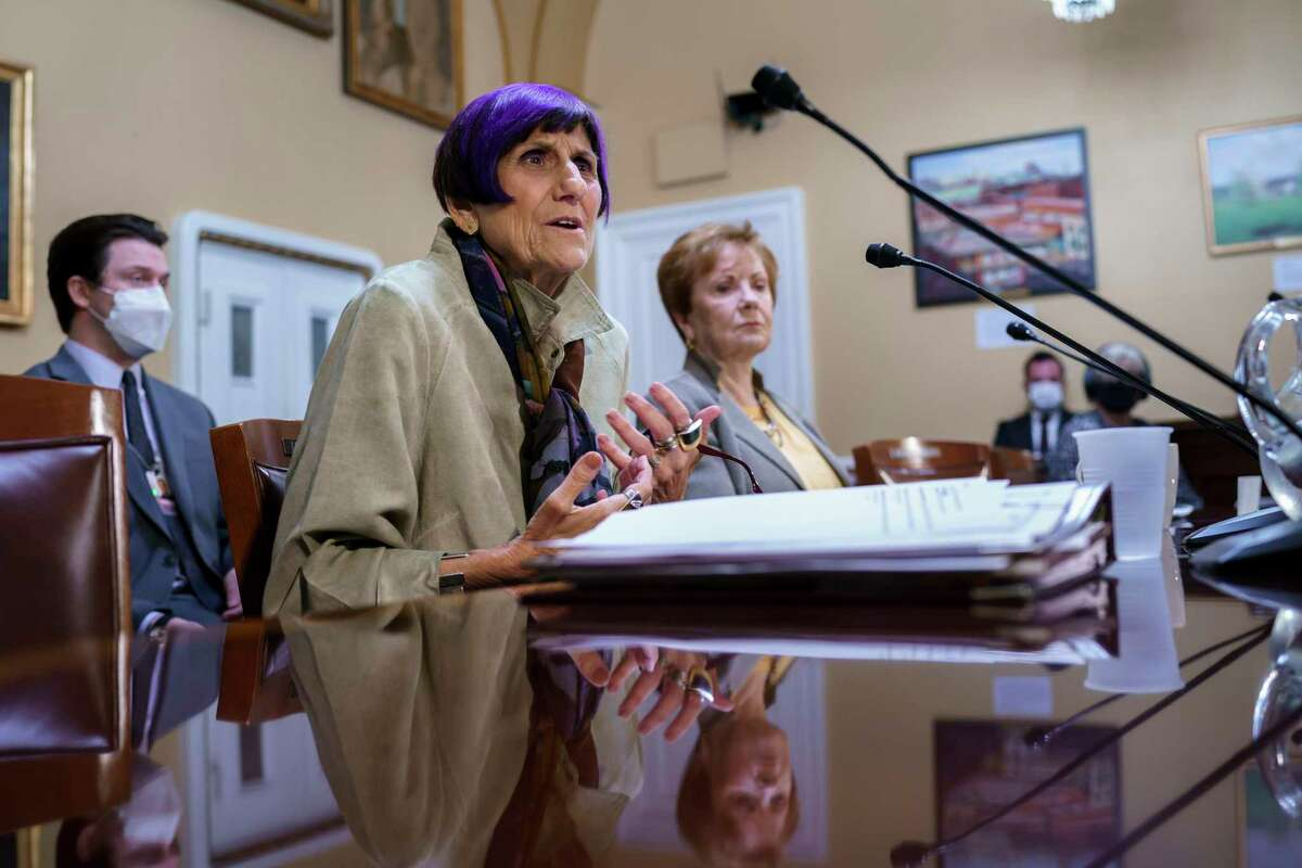 U.S. Rep. Rosa DeLauro, D-Conn., at the Capitol in Washington last month.
