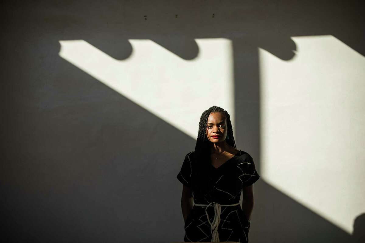 Ifeoma Ozoma at her home in Santa Fe, N.M. Ozoma detailed the workplace discrimination she suffered at Pinterest.