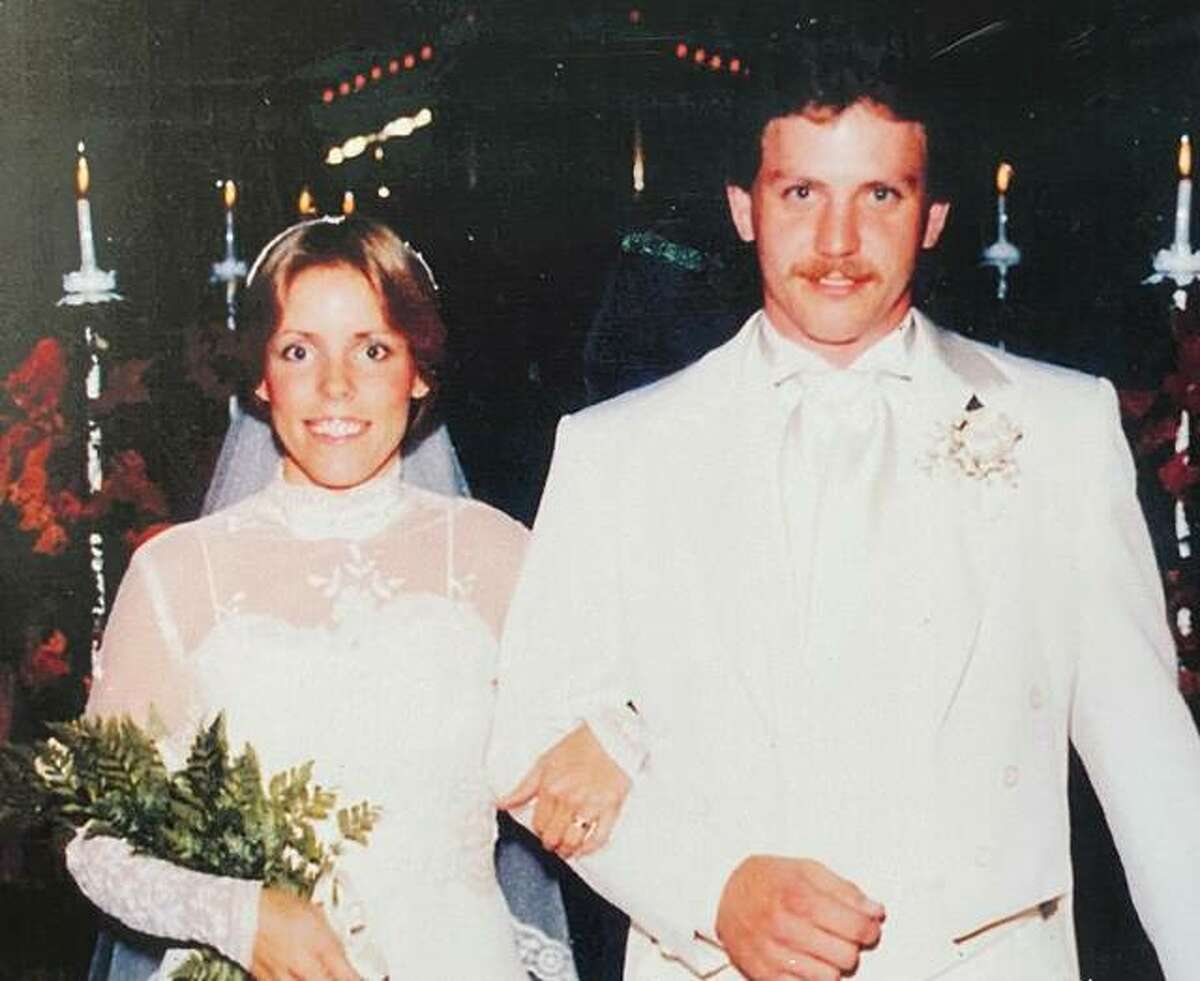 Perry and Jeanne Hill at their wedding