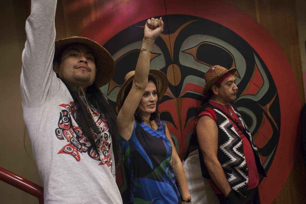 SEATTLE, WA - OCTOBER 13: People celebrate during Indigenous Peoples' Day events at the Daybreak Star Cultural Center on October 13, 2014 in Seattle, Washington. Earlier that afternoon, Seattle Mayor Ed Murray signed a resolution designating the second Monday in October to be Indigenous Peoples' Day. (Photo by David Ryder/Getty Images)