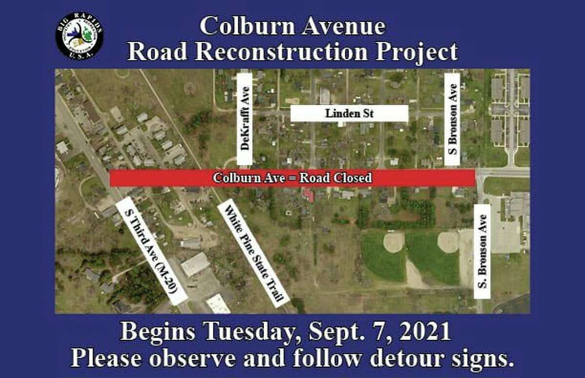 South Dekrafft, Gilbertson, PembertonandSouth Bronson, from the north, willremain closed to Colburn Avenue in order to finish replacement of water mains. (Screenshot fromwww.facebook.com/brdps)