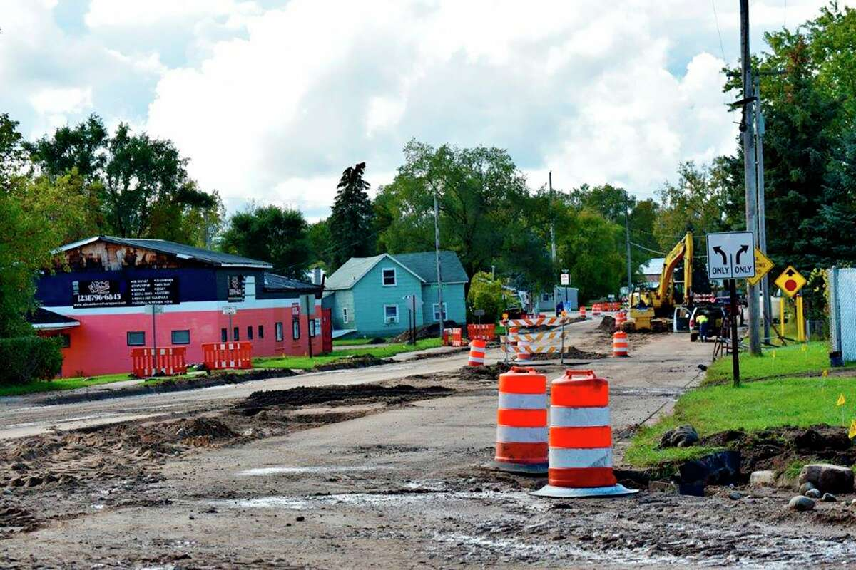 Colburn Avenue has been closed since Sept. 7. Construction is slated to be completed by Friday, Oct. 15. (Pioneer photo/Olivia Fellows)