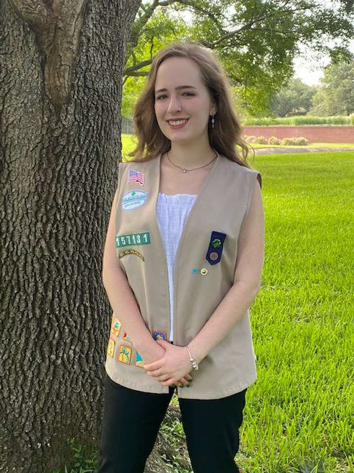 Clements High School senior Grace Dehner earned her Girl Scout Gold Award by forming a Model U.N. committee to examine issues that face women everywhere.