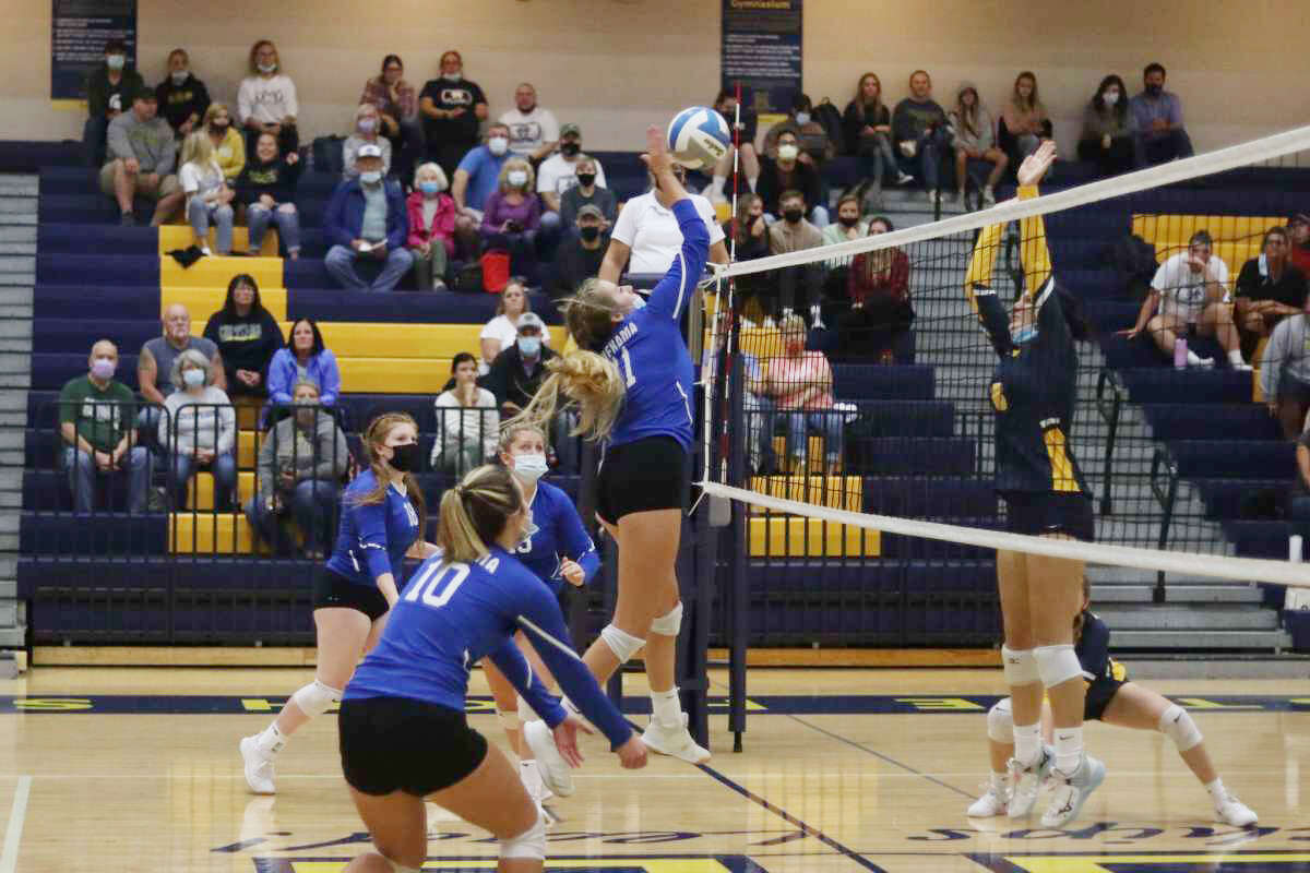 Onekama and Manistee square off in volleyball to determine the county's top team on Oct. 7, with Onekama emerging victorious to retain its title as top dog in Manistee County.