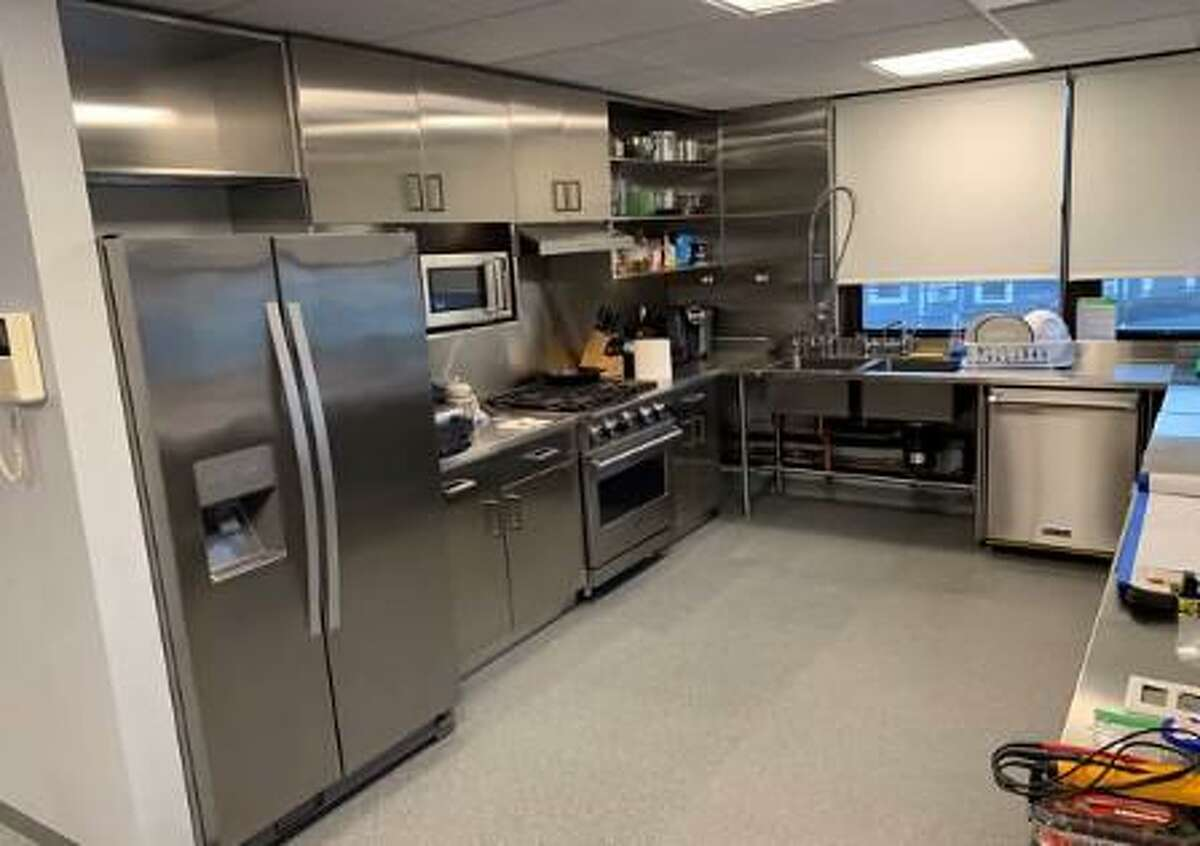 A rendering of what the new kitchen at Wilton Fire Department headquarters is to look like, laden with stainless steel applications.