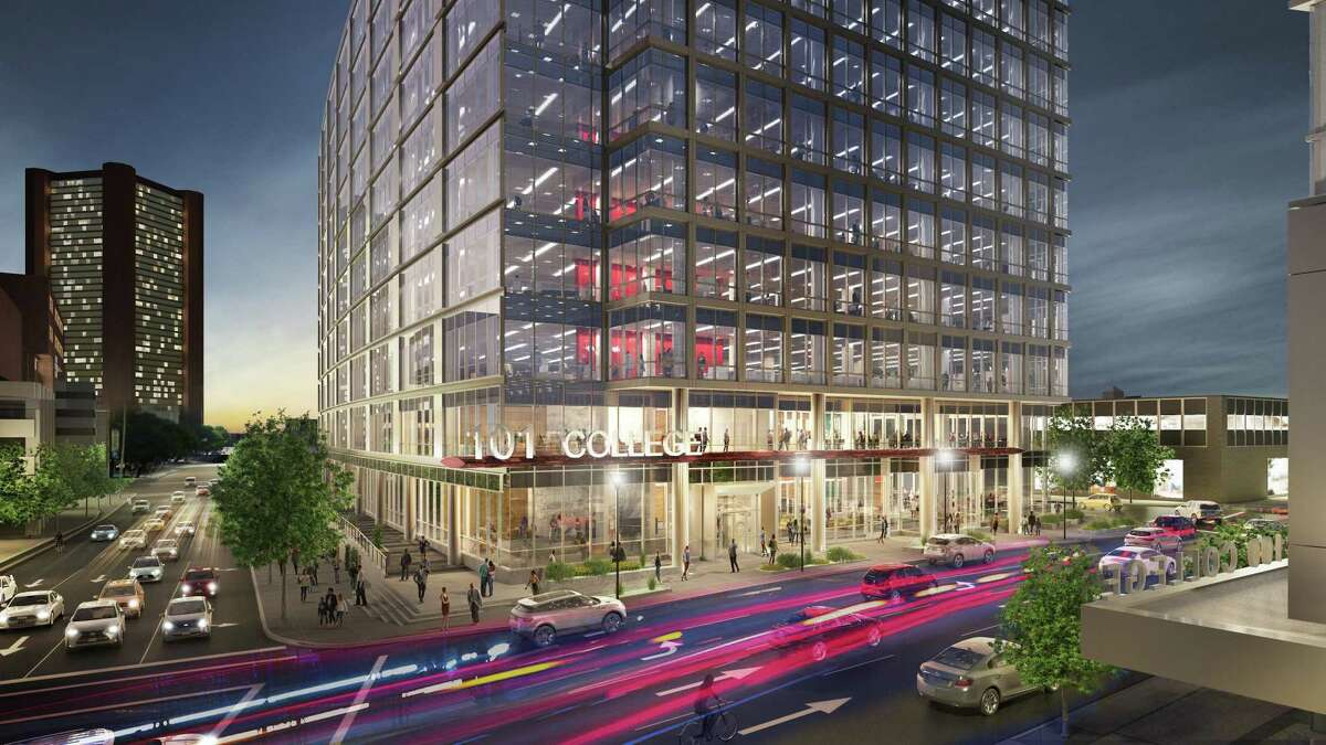 Depiction of the 101 College Street biotech building to be constructed by Carter Winstanley in New Haven.