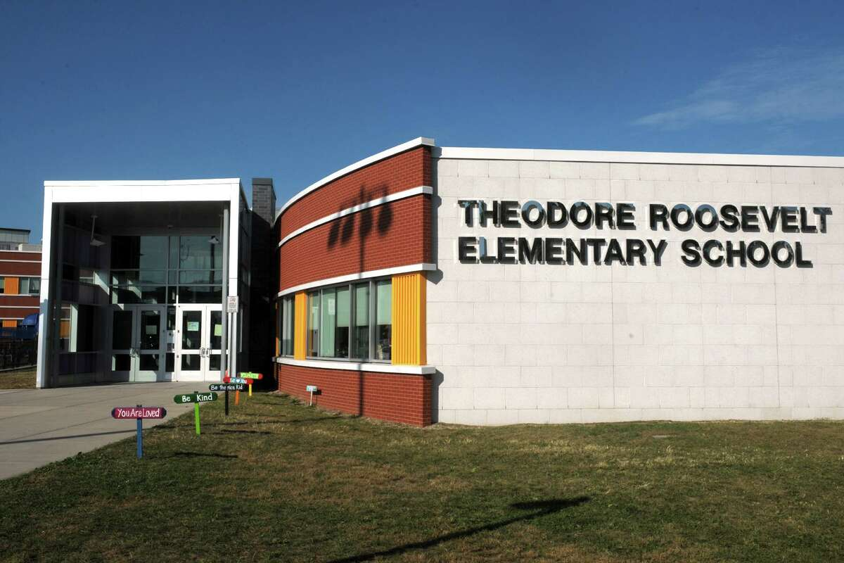 School teachers and administrators at Theodore Roosevelt School, in Bridgeport, Conn. are teaching students about the life and history of the 26th U.S. President, for whom the school is named.