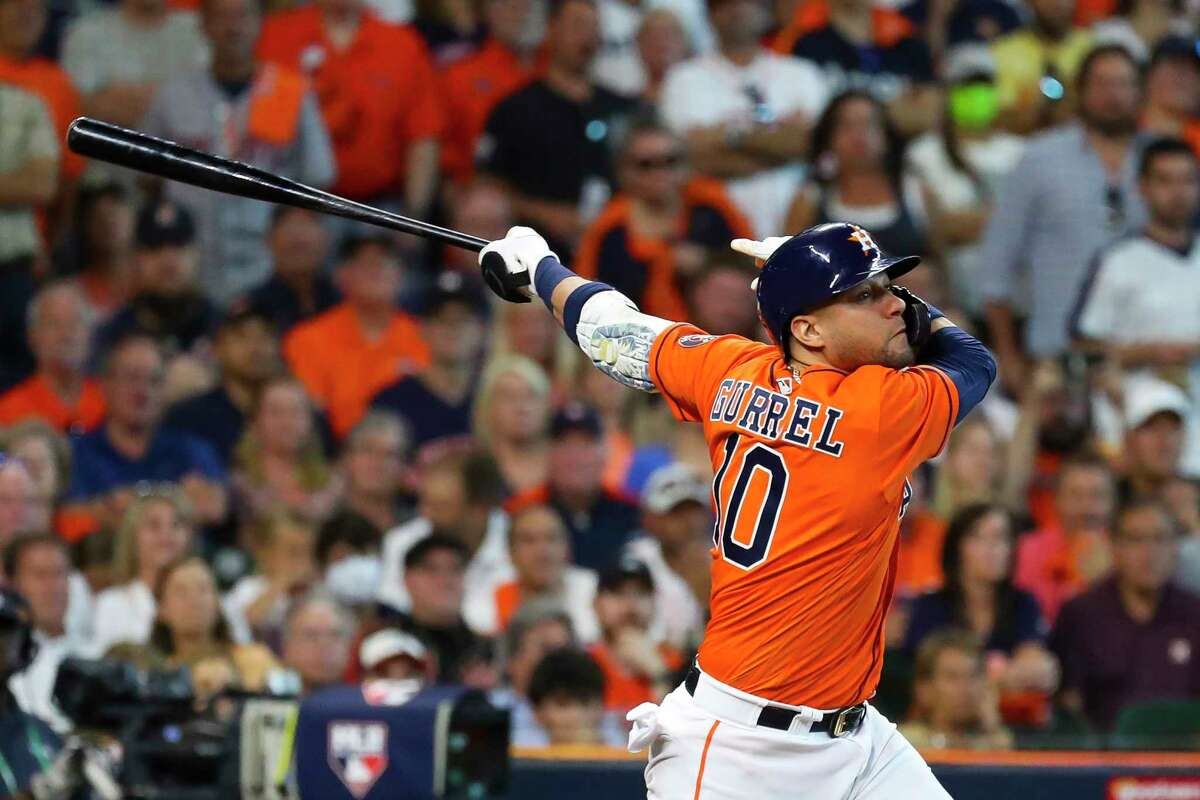 Normally the Astros' No. 5 hitter, Yuli Gurriel batted seventh in Sunday's Game 3 of the ALDS.