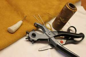 There is an in-person small group workshop at the Institute for American Indian Studies in Washington from 1 to 4 p.m. Sunday. Participants will be able to learn how to make their own leather Native American style pouch.