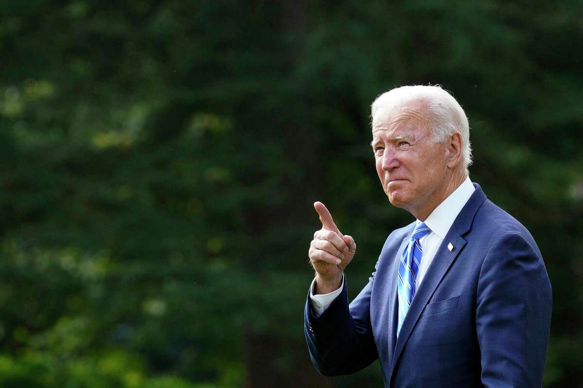 U.S. President Joe Biden delivered remarks on the bipartisan infrastructure bill and his Build Back Better agenda at the International Union of Operating Engineers Local 324. (Yuri Gripas/Abaca Press/TNS)