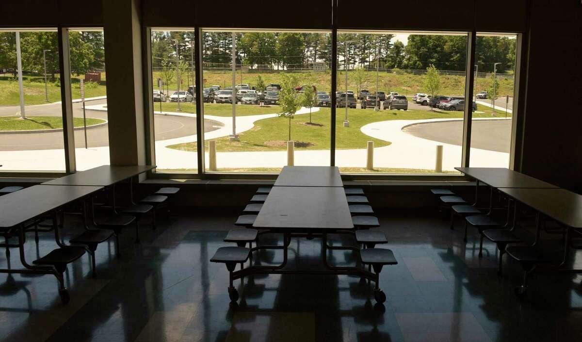 R.M.T. Johnson School cafeteria. Wednesday, June 16, 2021, in Bethel, Conn.