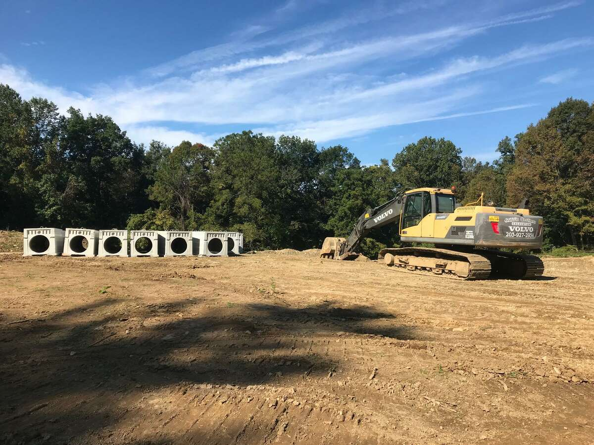 Construction has begun at the former Moorefield Farm on Huntington Tpke.