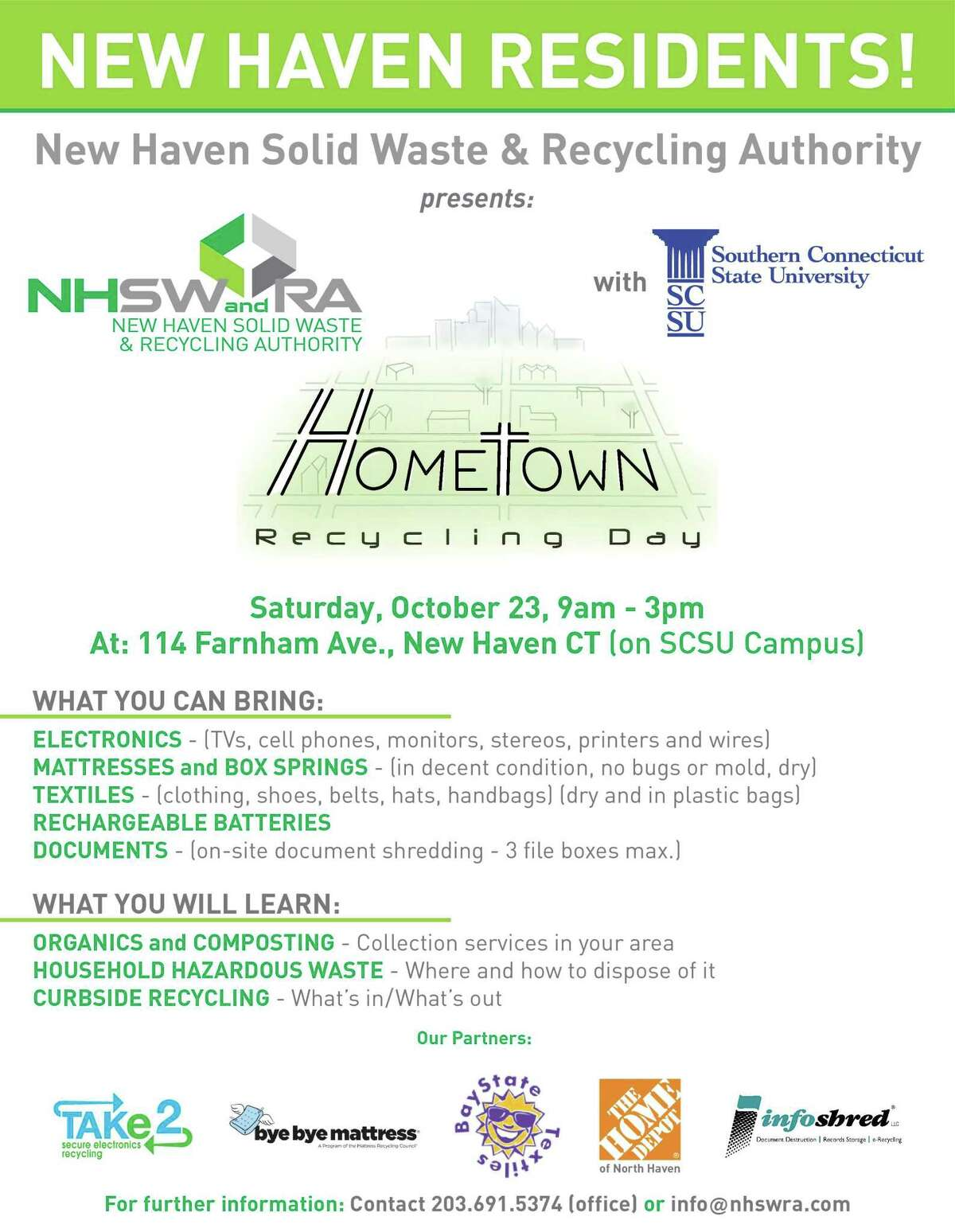 New Haven Solid Waste & Recycling Authority Recycling Day