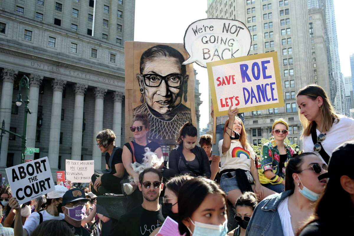 Crowds gather in New York City to protest Texas' new abortion law. A reader says women should have control over their bodies.