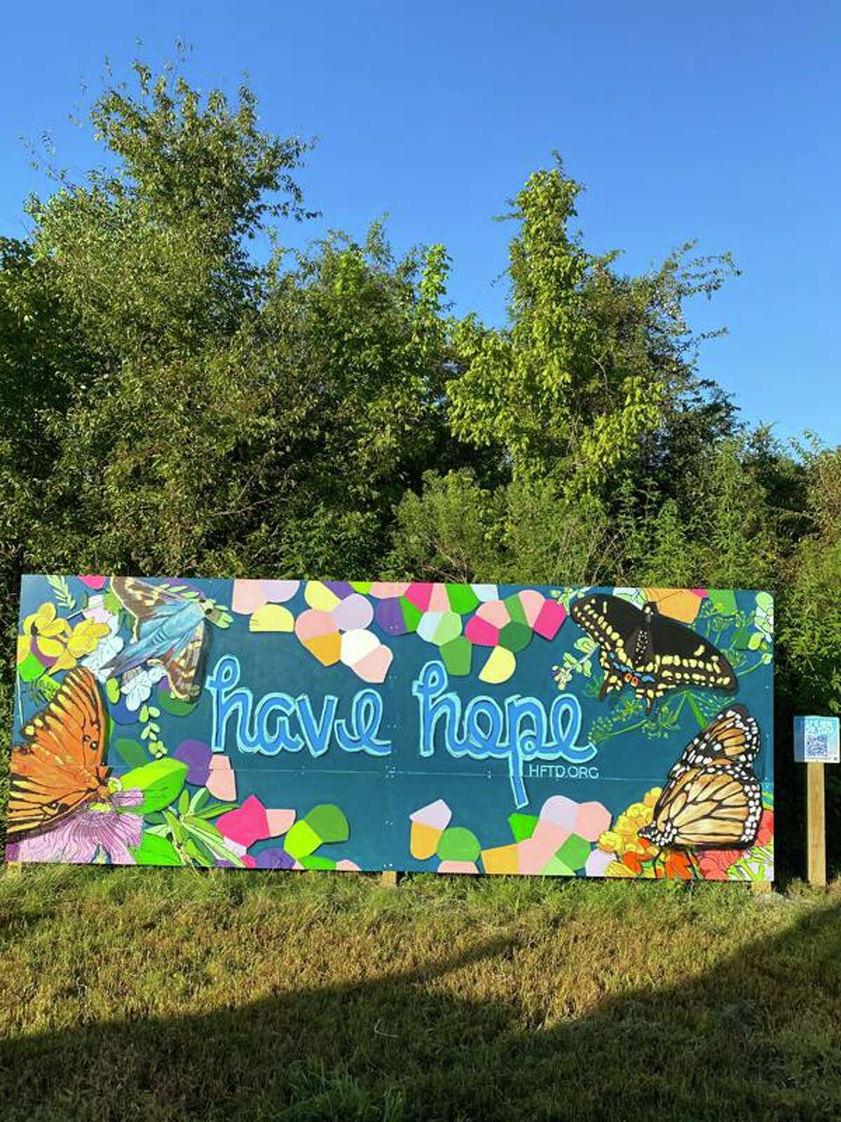 """""""Blooms,"""" """"Butterflies"""" and """"Birds"""" are three murals commissioned by the city of Sugar Land to increase visibility of mental health resources and dispel stigma surrounding mental health."""