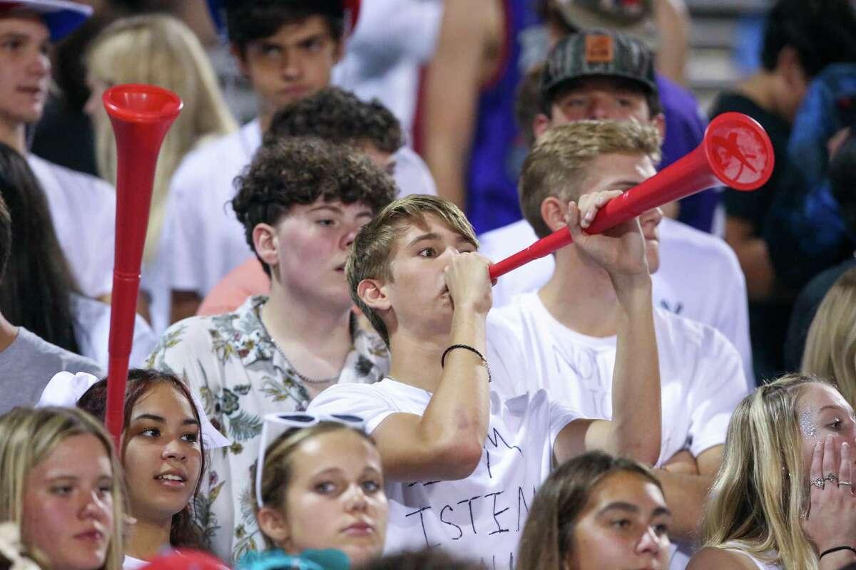Fans cheer for the Lumberton Raiders Friday night at Raider Stadium in Lumberton, TX. Photo taken October 8, 2021 by Jarrod Brown