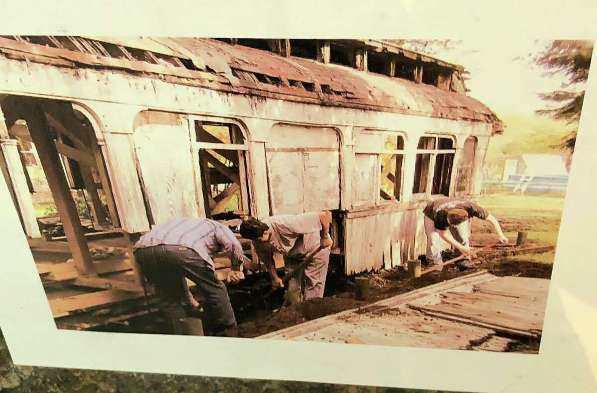 What remained of historic Car 1409 was found rotting away in a Sebastopol backyard.
