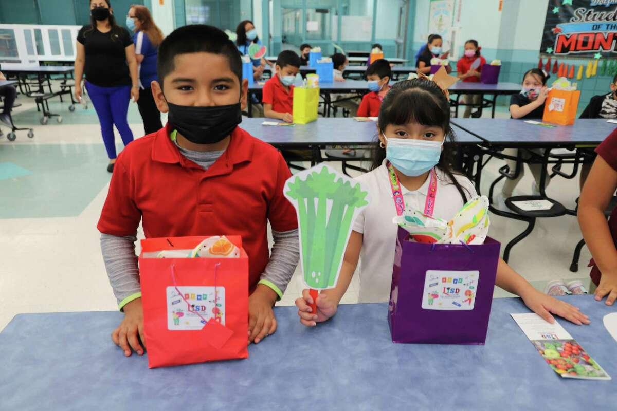 LISD's Child Nutrition Program kicked off the Fresh Fruit and Vegetable Program at Sanchez Ochoa Elementary School.