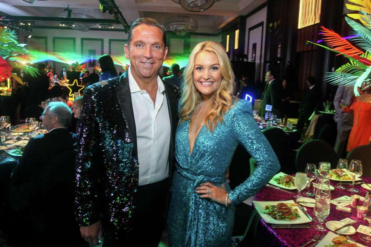 Tony Buzbee and Frances Moody Buzbee at Houston Children's Charity gala at the Post Oak Hotel in Houston on October 8, 2021.