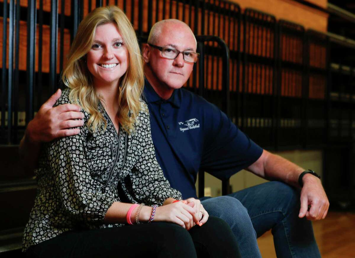 Atascocita volleyball coach Madeline Odom learned a lot about being a coach from her dad, Rusty, a long-time assistant baseball coach at Kingwood High School. Rusty Odom, now Humble ISD's multimedia coordinator, attends nearly all of his daughter's games.