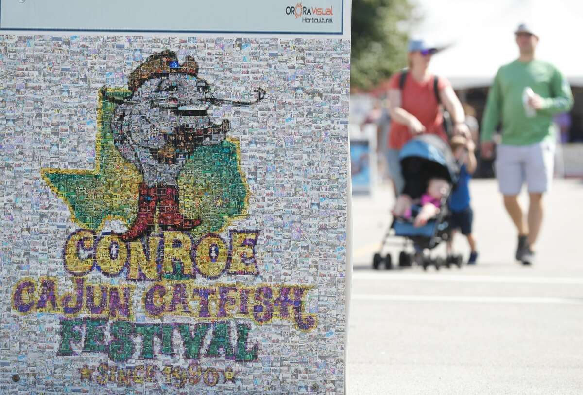 Hundreds of visitors attended the annual Conroe Cajun Catfish Festival in downtown Conroe.