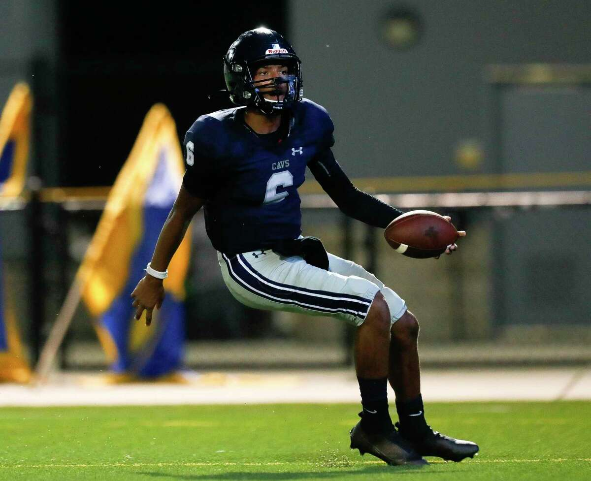College Park quarterback Ty Buckmon (6), shown here last month against Klein, was a part of all five touchdowns Friday night against Grand Oaks.