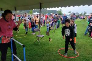 There were plenty of kids games at Frankfort's weekend of Fall Festival. (Colin Merry/Record Patriot)