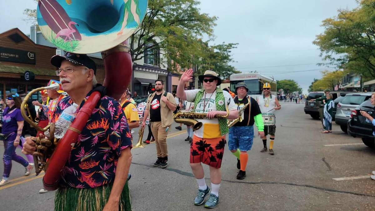 The Scottville Clown Band marched in the Frankfort Fall Fest Parade. (Colin Merry/Record Patriot)