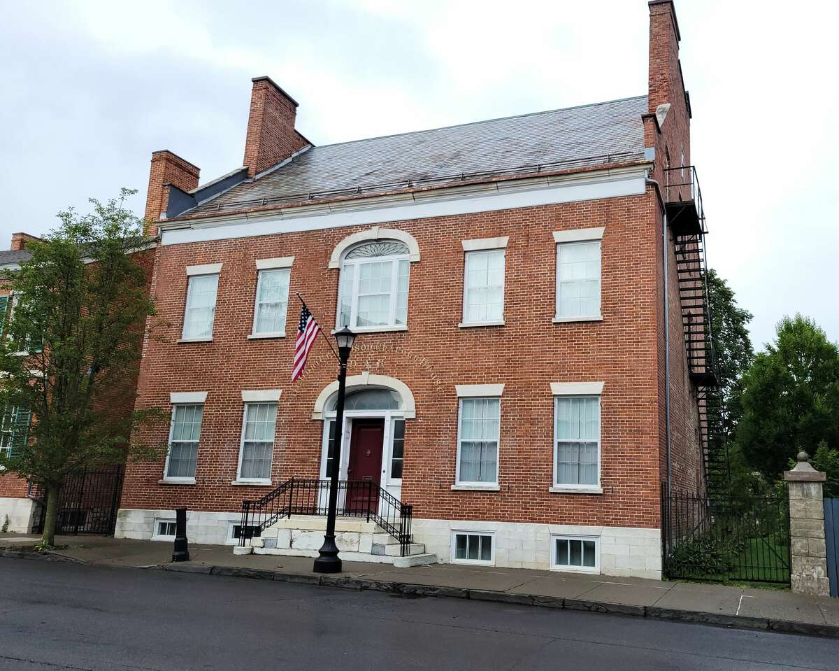 The 1811 Robert Jenkins House was chosen for a grant to replace its slate roof, repair its parapets and make the building accessible.