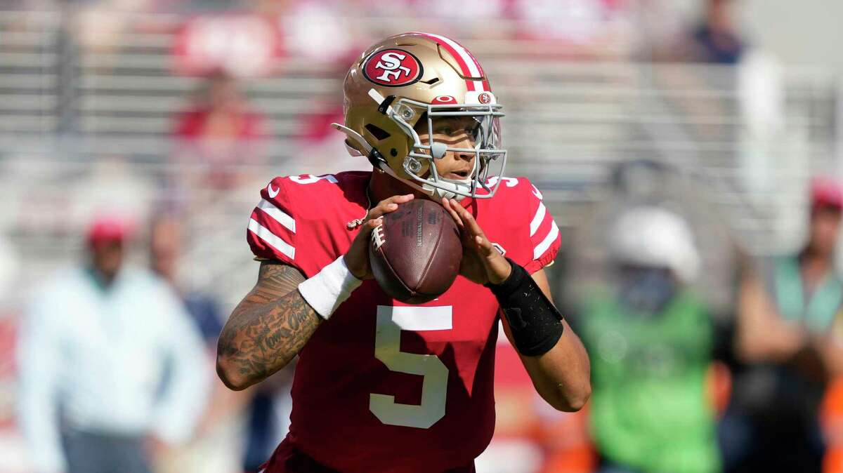 Rookie quarterback Trey Lance will make his first NFL start when the 49ers play at Arizona at 1:25 p.m. Sunday. ( Channel: 2Channel: 40)