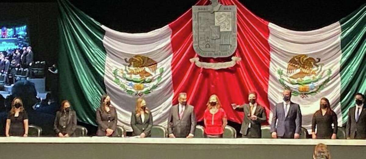 Samuel Garcia was inagurated Friday night as the next governor of Nuevo Leon.