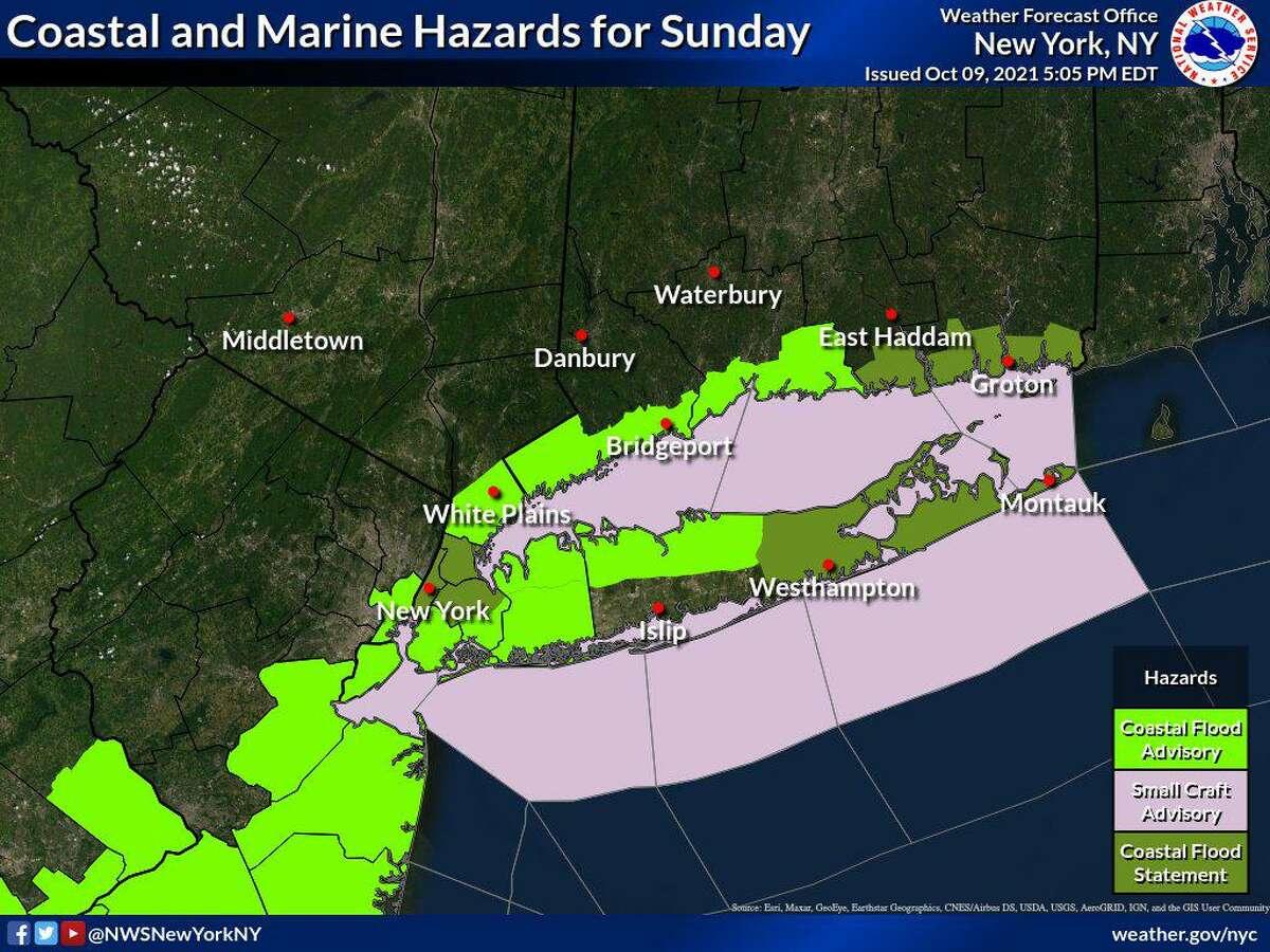 Coastal and marine hazards for Sunday, Oct. 10.