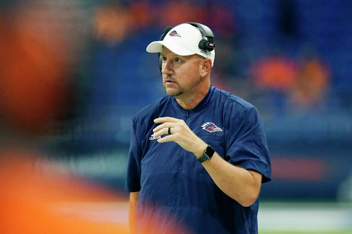 UTSA coach Jeff Traylor has led his team to historic heights this season, most recently with a 52-46 win over Western Kentucky to
