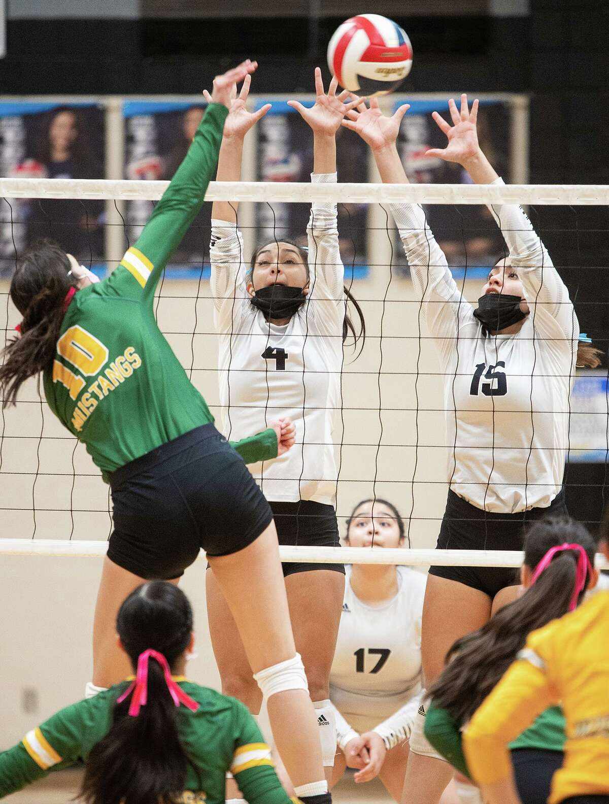 Anyssa Chavarria, Isabel Sanchez and the United South Lady Panthers rolled past the Nixon Lady Mustangs on Saturday.
