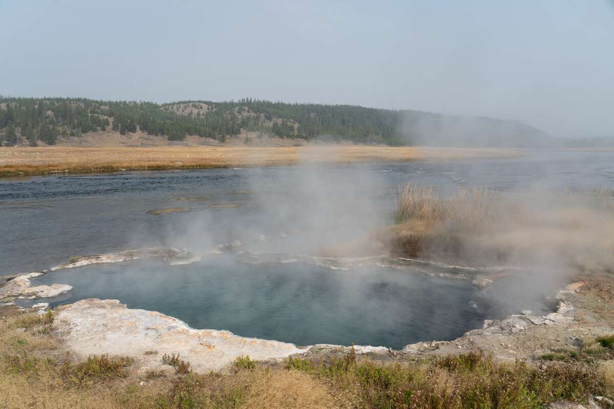 Woman hospitalized after jumping into Yellowstone hot spring to rescue dog, officials say
