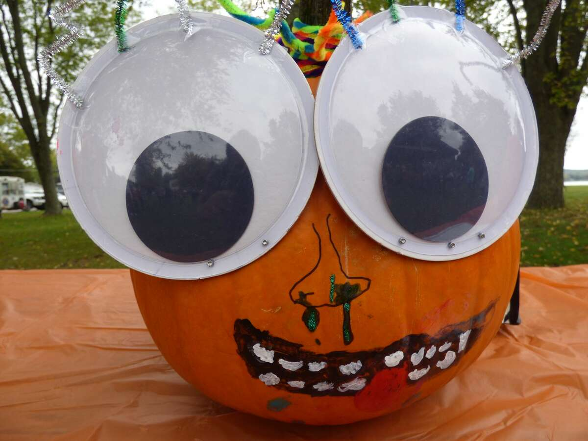 This silly pumpkin was one of many submitted to the festival contest.